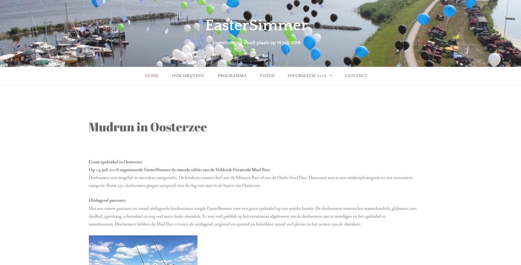 Website voor Eastersimmer