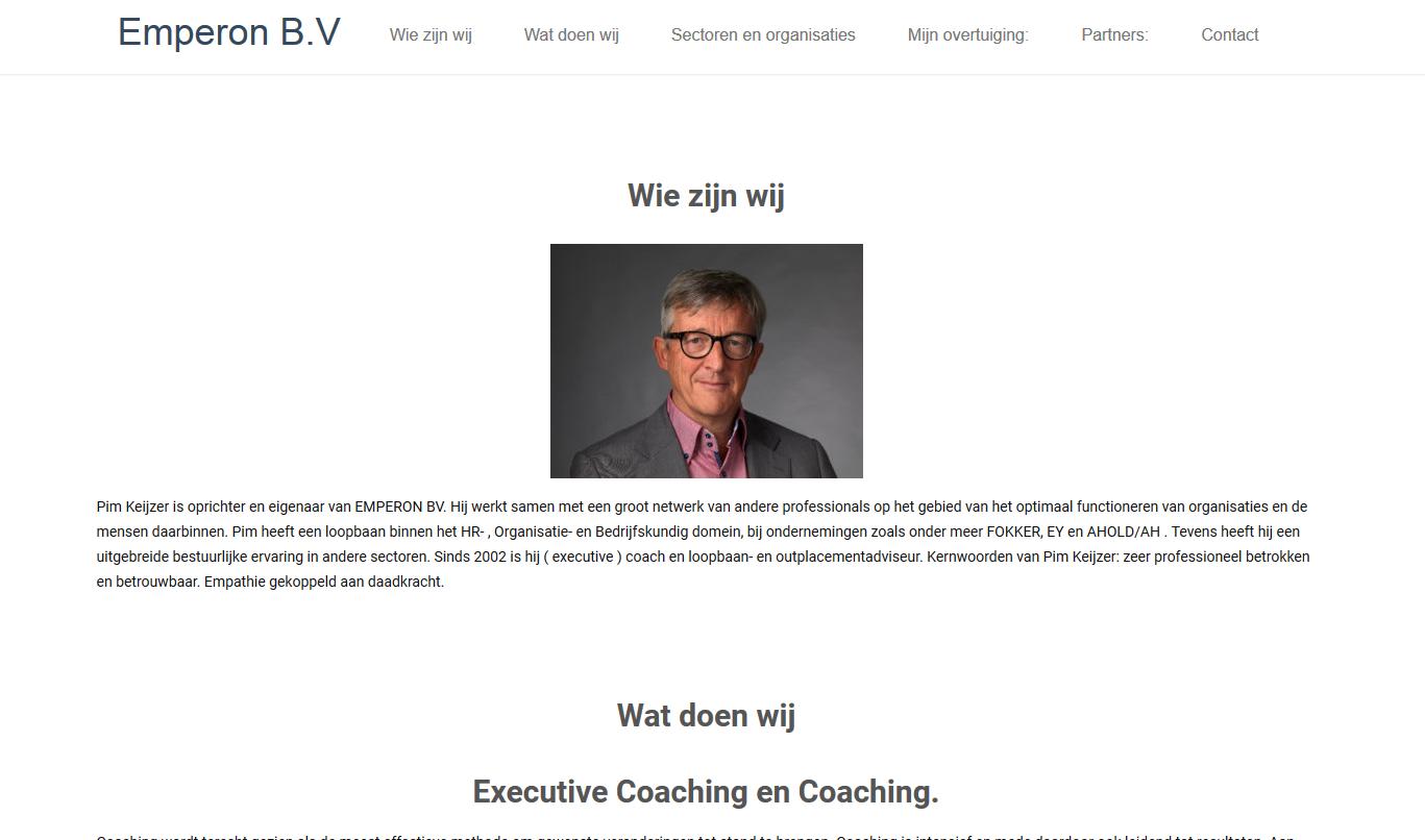 Website van Emperon B.V